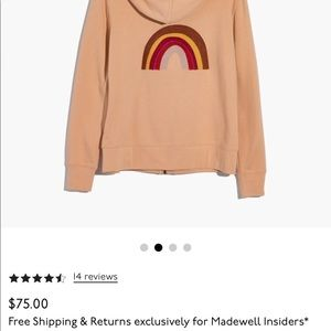 Mile(s) by Madewell Embroidered Rainbow Hoodie